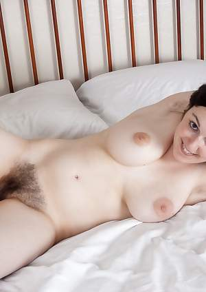 Hairy girl Tamar gets ready for bed