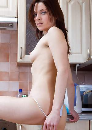 Ginger Alice is a hairy chick and naughty maid