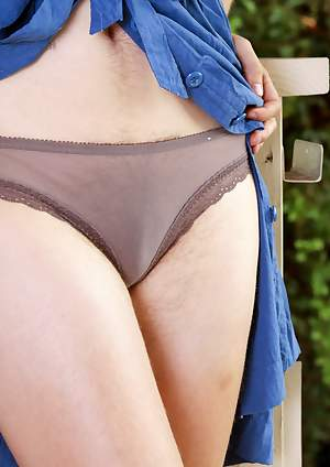 Agnes has on sexy sheer underwear