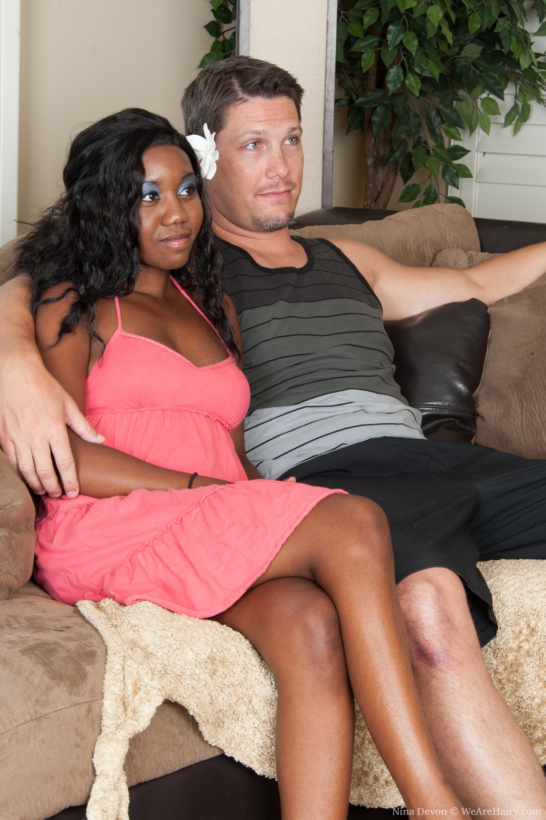 Ebony Mom Fucks White Son